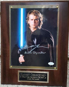 Hayden Christensen Signed Star Wars Plaque
