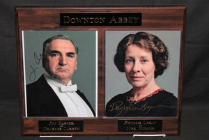 Downton Abbey Signed Plaque