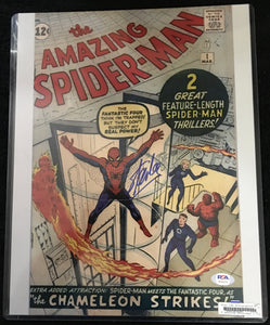 Stan Lee Signed The Amazing Spider-man #1 Lithograph