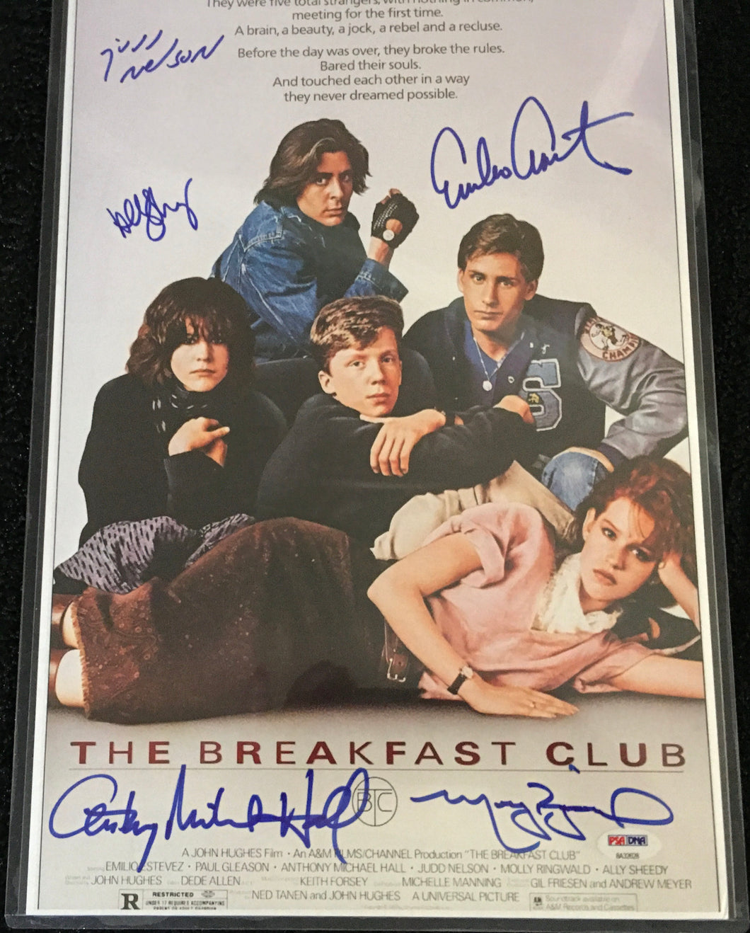 The Breakfast Club Cast Signed Poster