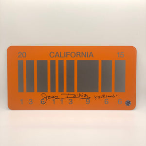 James Tolkan Signed Back To The Future Replica License Plate
