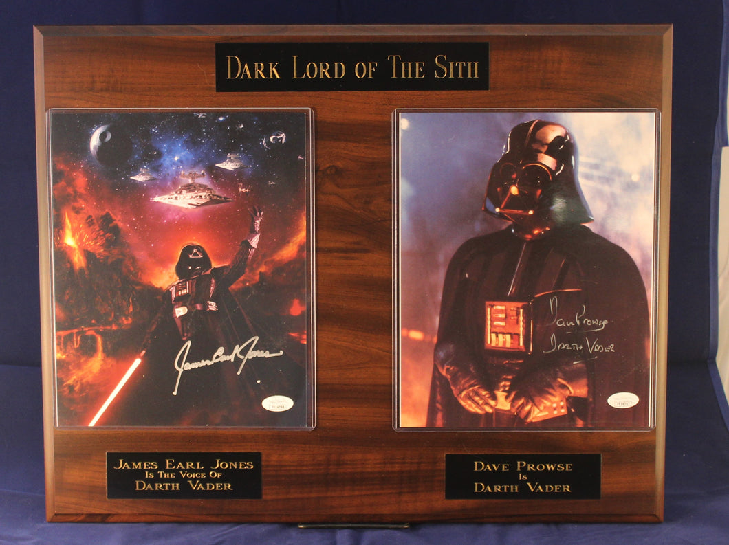 James Earl Jones And David Prowse Signed Dark Lord Of The Sith Plaque