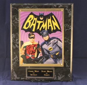 Batman and Robin Signed Plaque