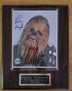 Peter Mayhew Signed Chewbacca Plaque