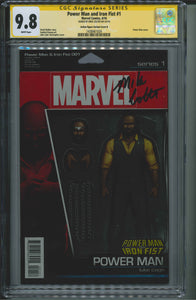 Power Man and Iron Fist #1 CGC 9.8 Action Figure Variant Cover B Signed by Mike Colter