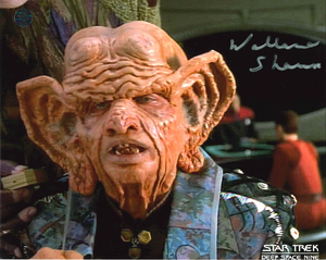 Wallace Shawn Signed Star Trek Photo