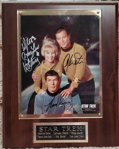 Star Trek Cast Signed Plaque