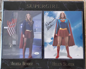 Melissa Benoist And Helen Slater Signed Supergirl Plaque