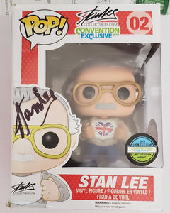 Stan Lee Signed Convention Exclusives Funko Pop