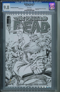 The Walking Dead #1 Wizard World Madison Sketch Edition CGC 9.8 Rob Liefeld Cover