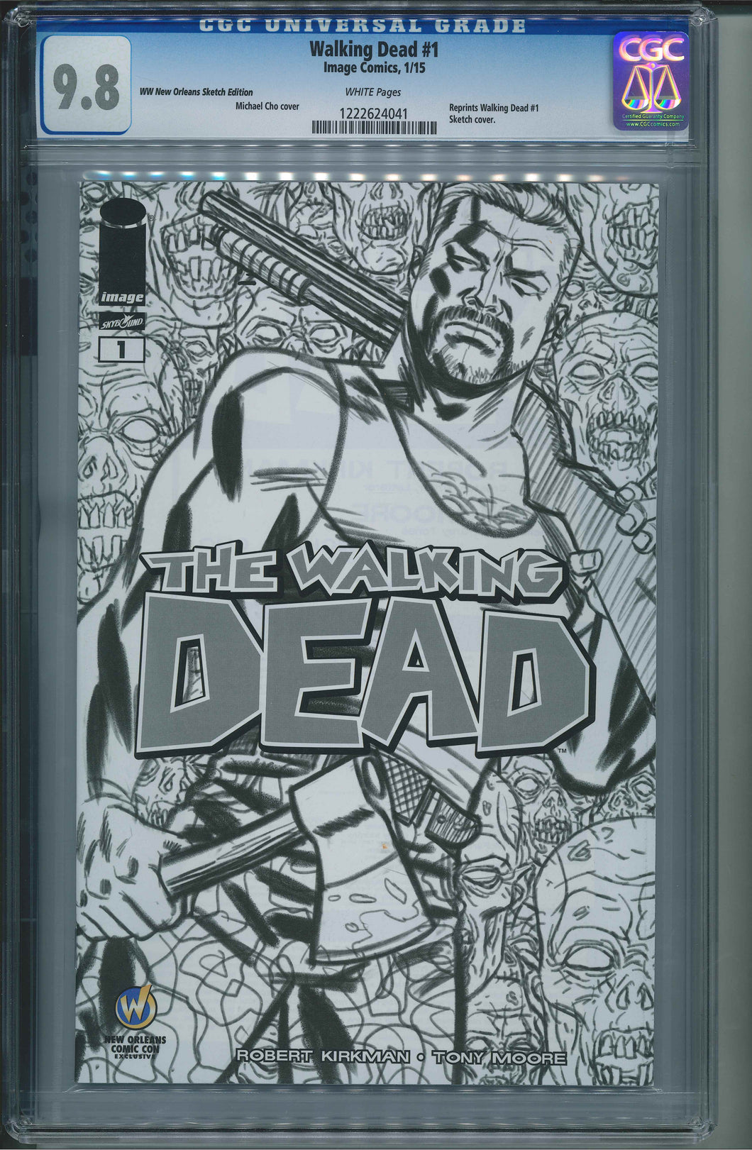 The Walking Dead #1 Wizard World New Orleans Sketch Edition CGC 9.8 Michael Cho Cover