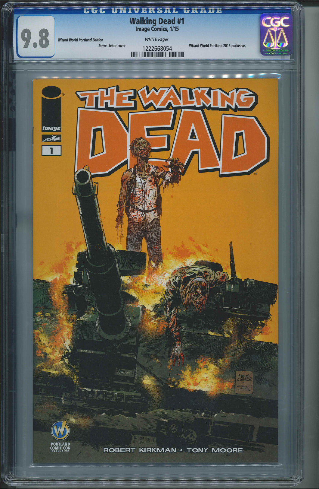 The Walking Dead #1 Wizard World Portland Edition CGC 9.8 Steve Lieber Cover