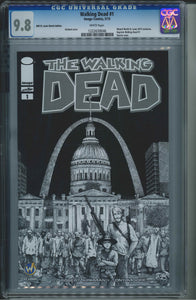 The Walking Dead #1 Wizard World St. Louis Sketch Edition CGC 9.8 Gerhard Cover