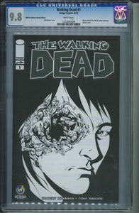 The Walking Dead #1 Wizard World Des Moines Sketch Edition CGC 9.8 Phil Hester Cover