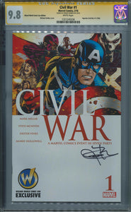 Civil War #1 CGC 9.8 Signed by Jeremy Renner