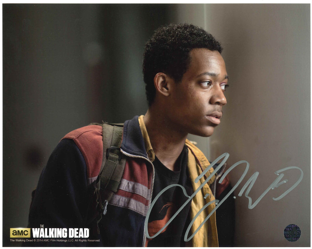 Tyler James Williams Signed The Walking Dead Photo