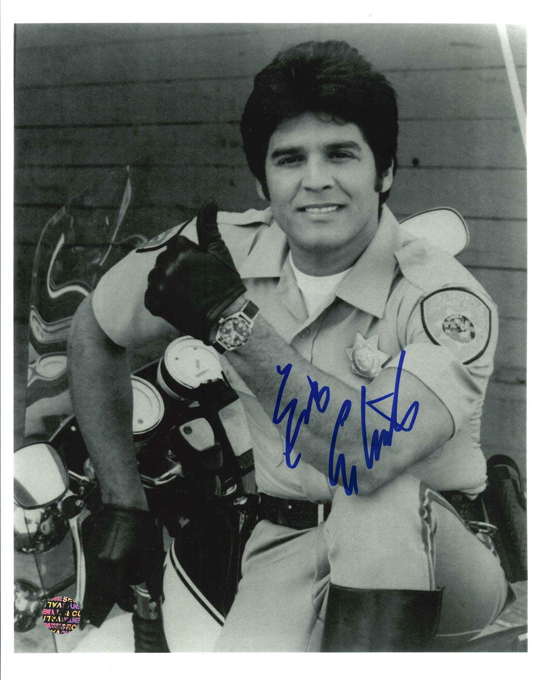 Erik Estrada Signed CHIPs Photo