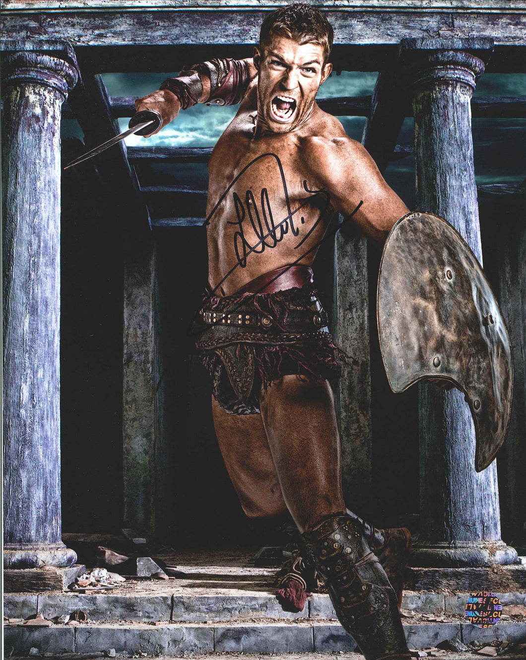 Liam McIntyre Signed Spartacus Photo