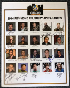 Signed Wizard World Richmond Convention Poster 2014