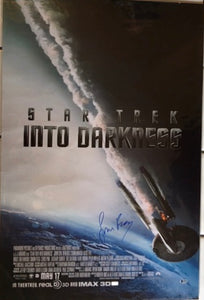 Simon Pegg Signed Star Trek Poster