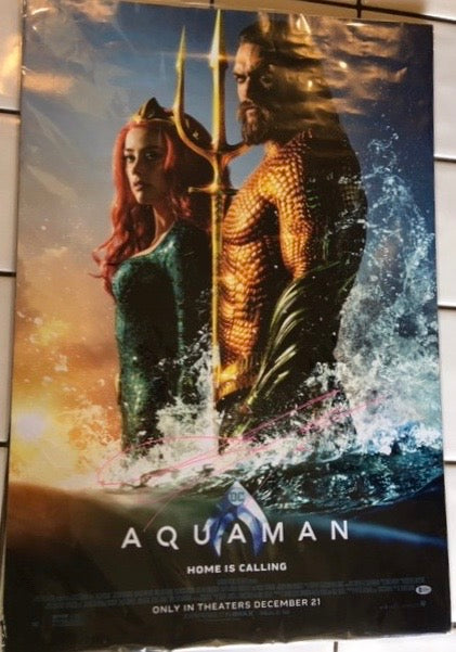 Jason Momoa Signed Aquaman Poster