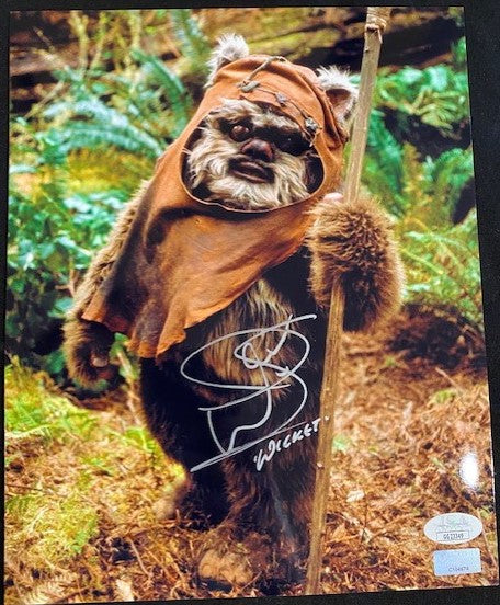Warwick Davis Signed Star Wars Photo