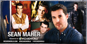 Sean Maher Signed Wizard World Banner