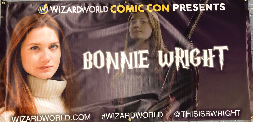Bonnie Wright Wizard World Banner