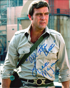 Lee Majors Signed Six Million Dollar Man Photo