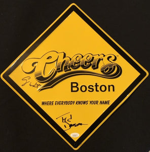 Cheers Sign Autographed By Ted Danson and George Wendt