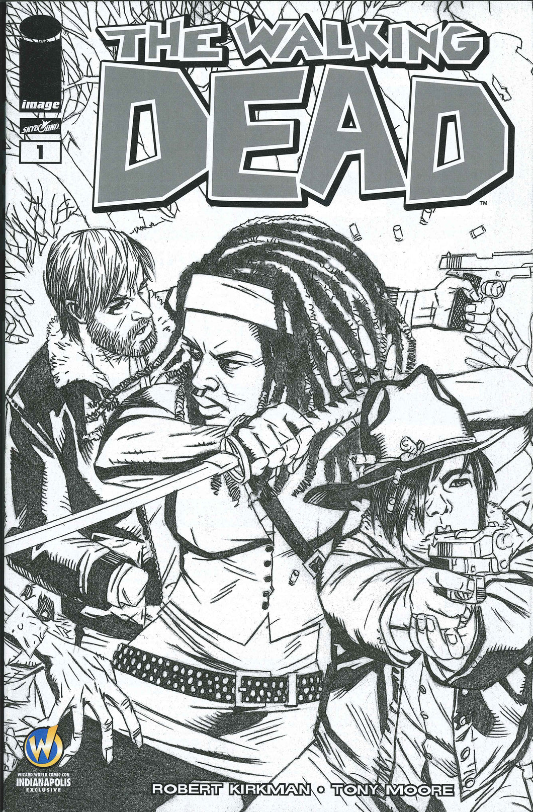 The Walking Dead #1 Wizard World Indianapolis Sketch Edition