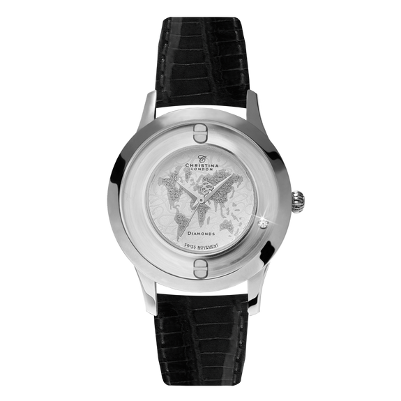 World, a Ladies Collect Watch with a Floating Real Diamond
