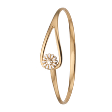Load image into Gallery viewer, Topaz Marguerite Bangle Gold and White with Gemstones