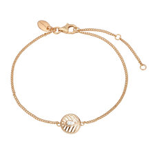 Load image into Gallery viewer, Open Leaf Bracelet Gold with Gemstones