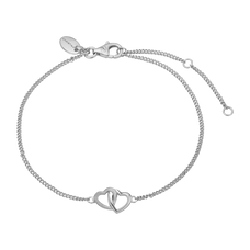 Load image into Gallery viewer, Double Hearts Bracelet Silver