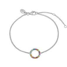 Load image into Gallery viewer, Remind yourself and be proud of your various life goals and ambitions with the Multi Coloured Rainbow of Gemstones that adorn Christina Global Goals bracelet. Every bracelet in our collection are delicately and expertly handcrafted in 925 Sterling Silver and finished in either an 18ct Gold or Rhodium Plating and this bracelet is further embellished with Seventeen Genuine Gemstones, including: Rhodolite, Madeira Citrin, Peridot, Garnet, Swiss Blue Topaz, Citrin, London Blue Topaz Stones