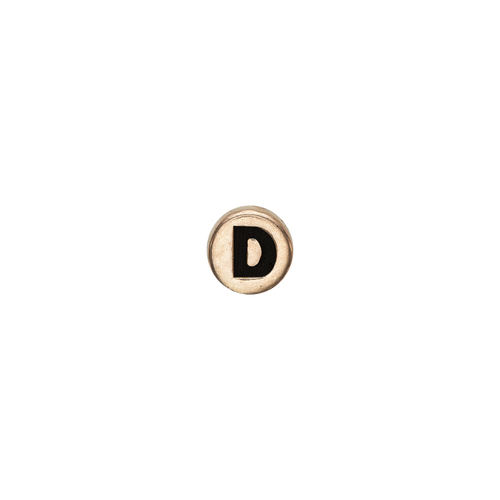Letter D Watch Element Gold