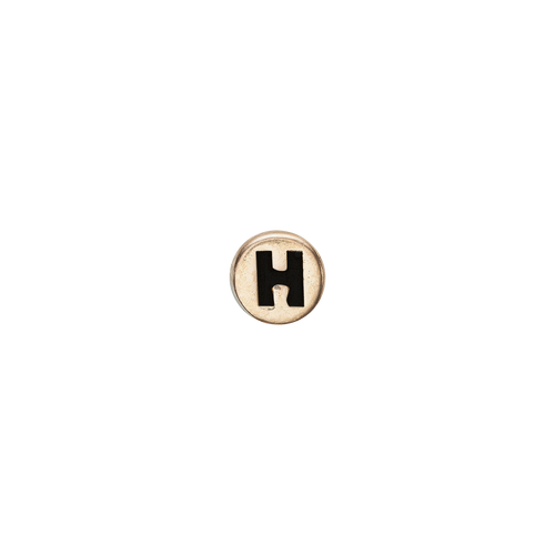 Letter H Watch Element Gold