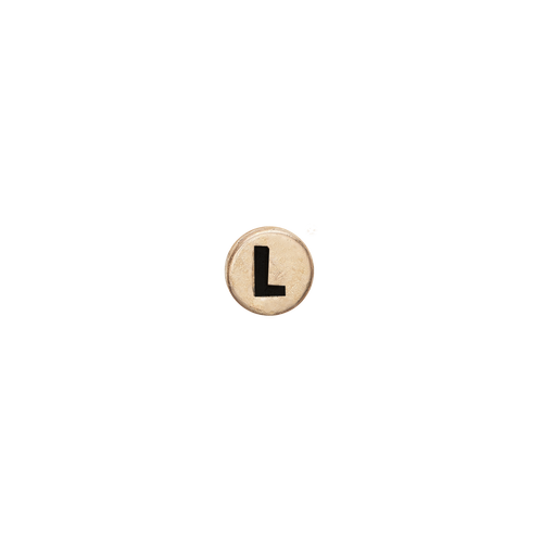 Letter L Watch Element Gold