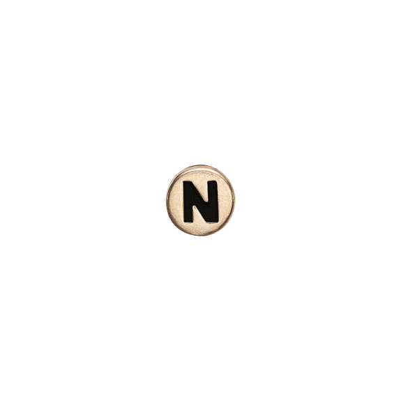 Letter N Watch Element Gold