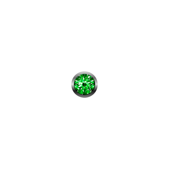 Nature Gemstone, a Large Real Green Tsavorite, a Collect Watch Accessory