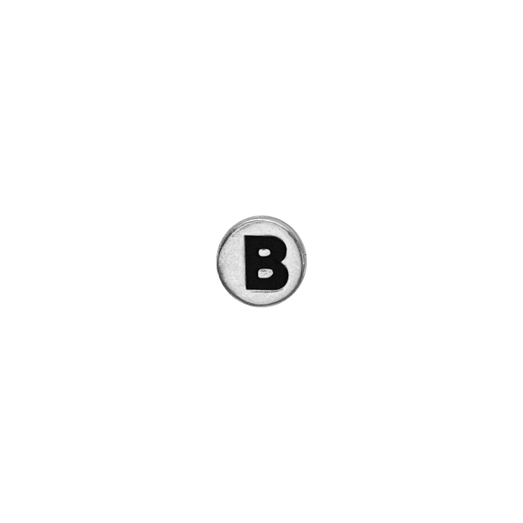 Letter B Watch Element Silver
