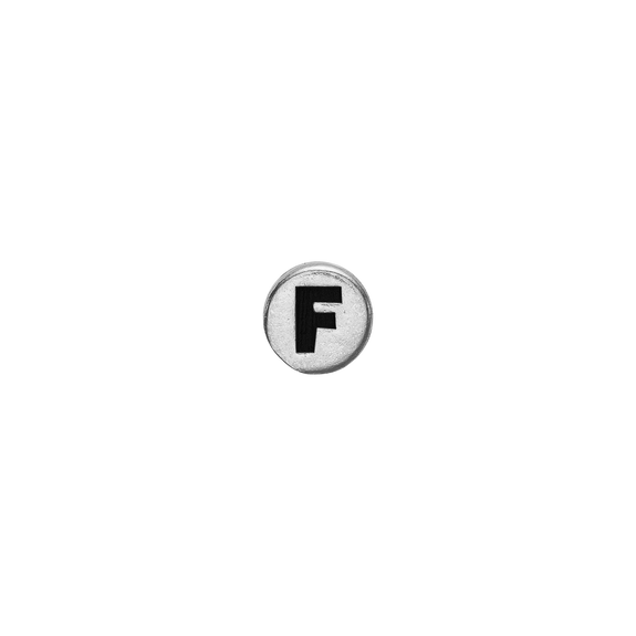Letter F Watch Element Silver