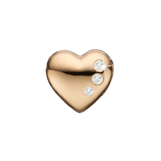 Load image into Gallery viewer, Secret Hearts Bead Charm Gold with Gemstones