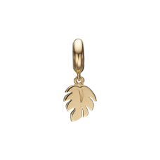 Load image into Gallery viewer, Palm Leaf Hanging Charm Gold