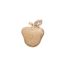 Load image into Gallery viewer, Petite Sparkling Apple Bead Charm Gold with Gemstones