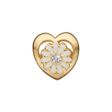 Load image into Gallery viewer, Marguerite LG Diamond Bead Charm Gold and White with Gemstones