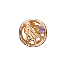 Load image into Gallery viewer, Zodiac Aquarius Bead Charm Gold with Gemstones