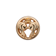 Load image into Gallery viewer, Zodiac Gemini Bead Charm Gold with Gemstones