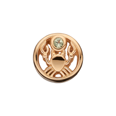Load image into Gallery viewer, Zodiac Cancer Bead Charm Gold with Gemstones